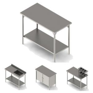 Mesas inoxidable para restaurantes y laboratorios Bucaramanga